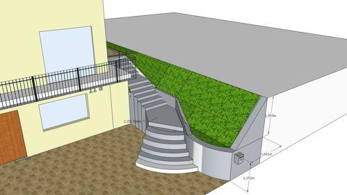 planung der aussenanlagen mit sketchup hausbau ein baublog. Black Bedroom Furniture Sets. Home Design Ideas