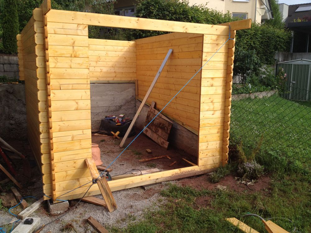 gartenhaus fundament schief my blog. Black Bedroom Furniture Sets. Home Design Ideas