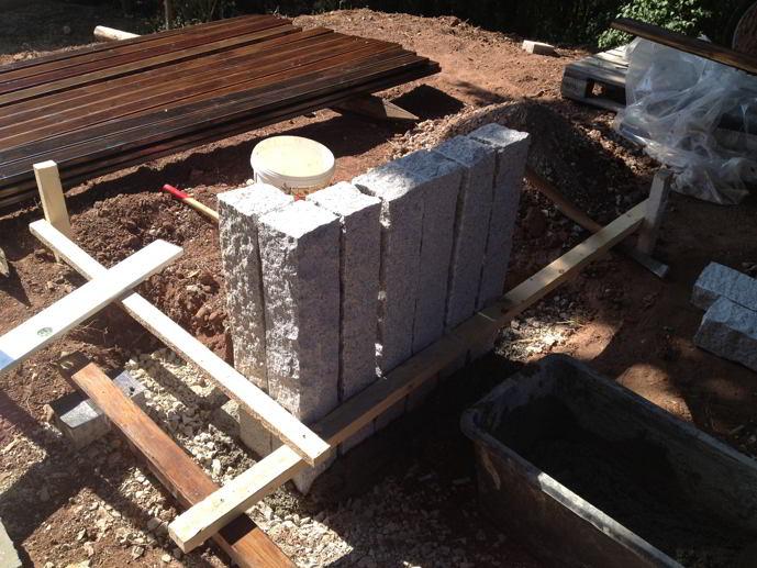 Granit palisaden richtig setzen