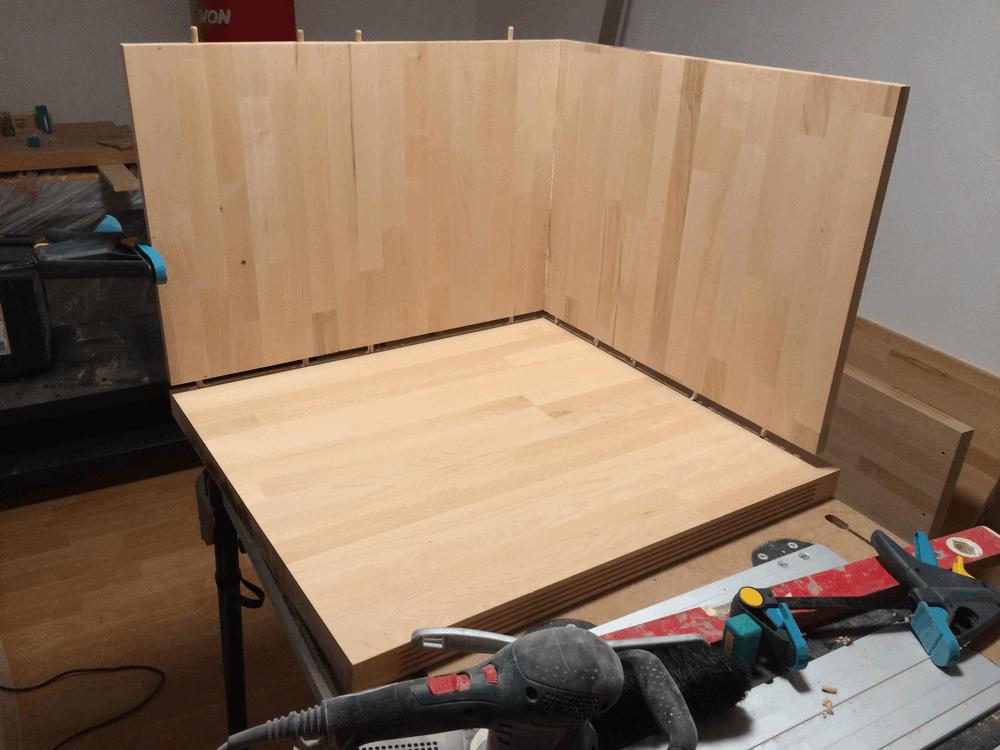 Holz-leimen-und-schleifen | Hausbau, ein Baublog