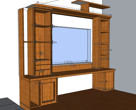 schrank planen mit sketchup hausbau ein baublog. Black Bedroom Furniture Sets. Home Design Ideas