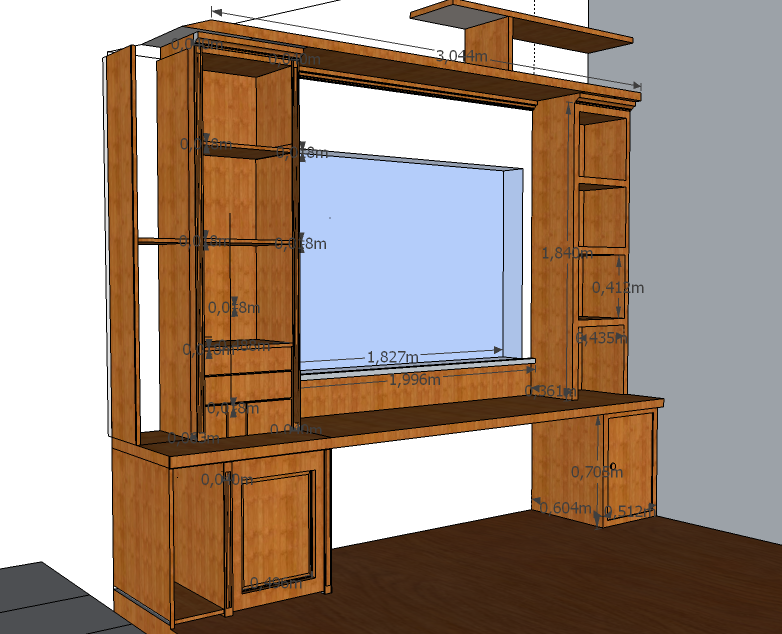 schrank planen mit sketchup. Black Bedroom Furniture Sets. Home Design Ideas
