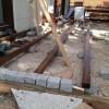 Holzbalken für die Terrasse