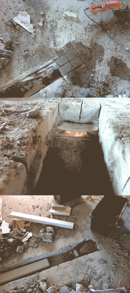 Betonschneiden - Rausholen vom einbetonierten Luftkanal