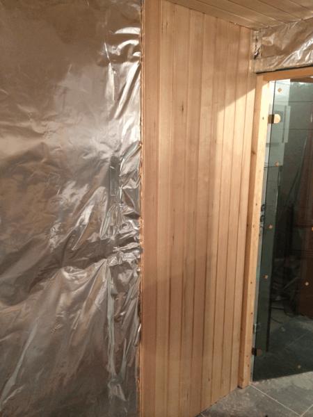 sauna abachi profilholz hausbau ein baublog. Black Bedroom Furniture Sets. Home Design Ideas