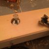 Holzbalken für die Saunabank