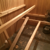 Saunabank - Konstruktion