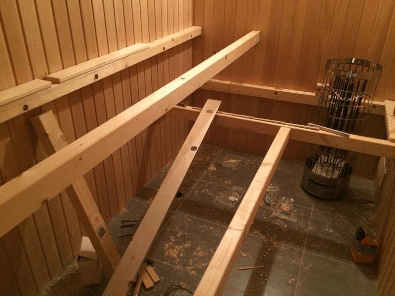 Hervorragend Sauna, Teil 5: Saunabänke bauen | Hausbau, ein Baublog LP44