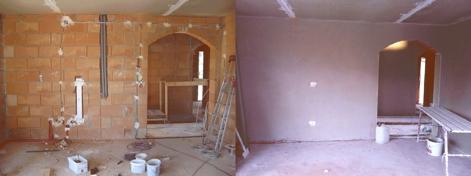 Wand - unverputzt und verputzt | Hausbau, ein Baublog