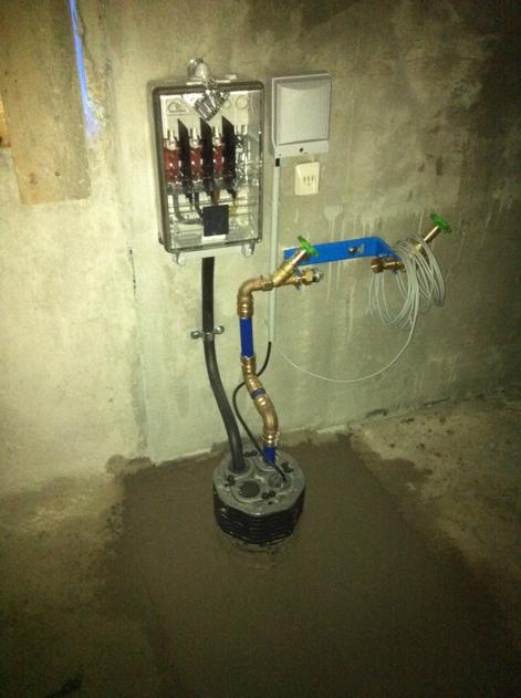 Gemeinsame Durchführung für Strom, Wasser und Telefon